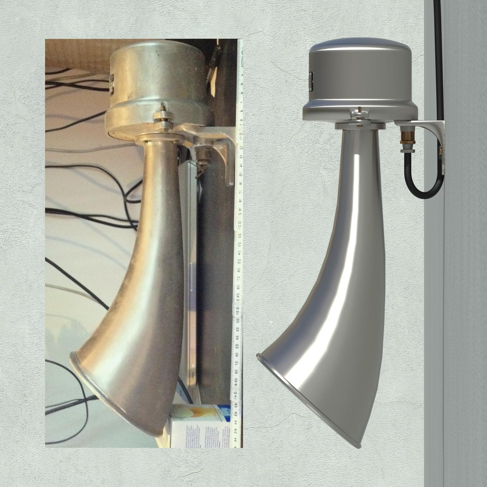 SketchUp + Thea Render  Rivendell Mill's Industrial Signal Warehouse Horns Rivendell Horns 01 Final Scene 02