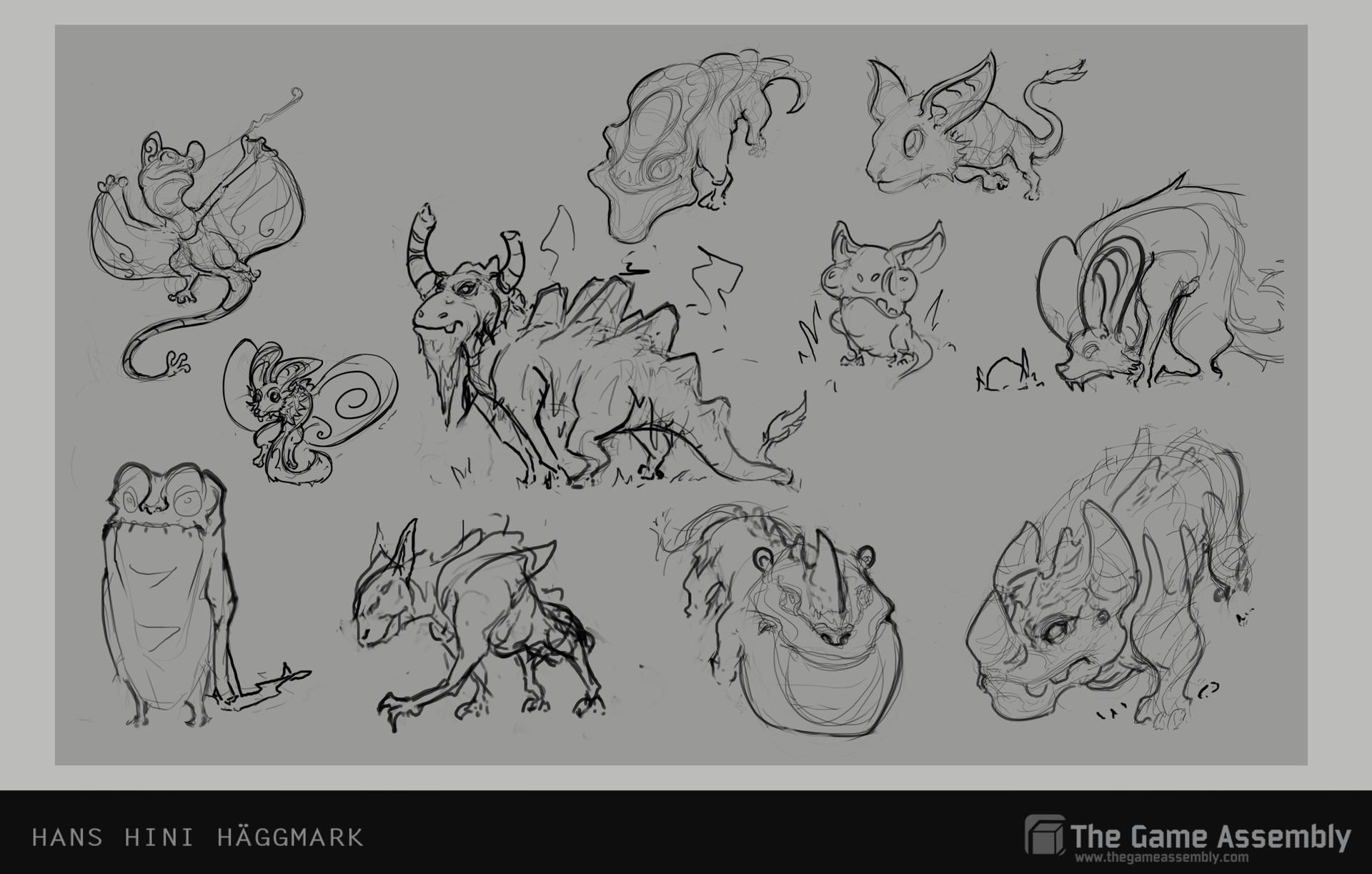 Hini haggmark fauna sketches 2 hanshinihaggmark