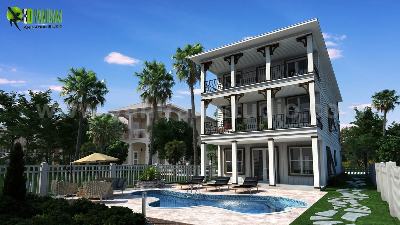Artstation Beautiful Home Front And Back Elevation Designs And