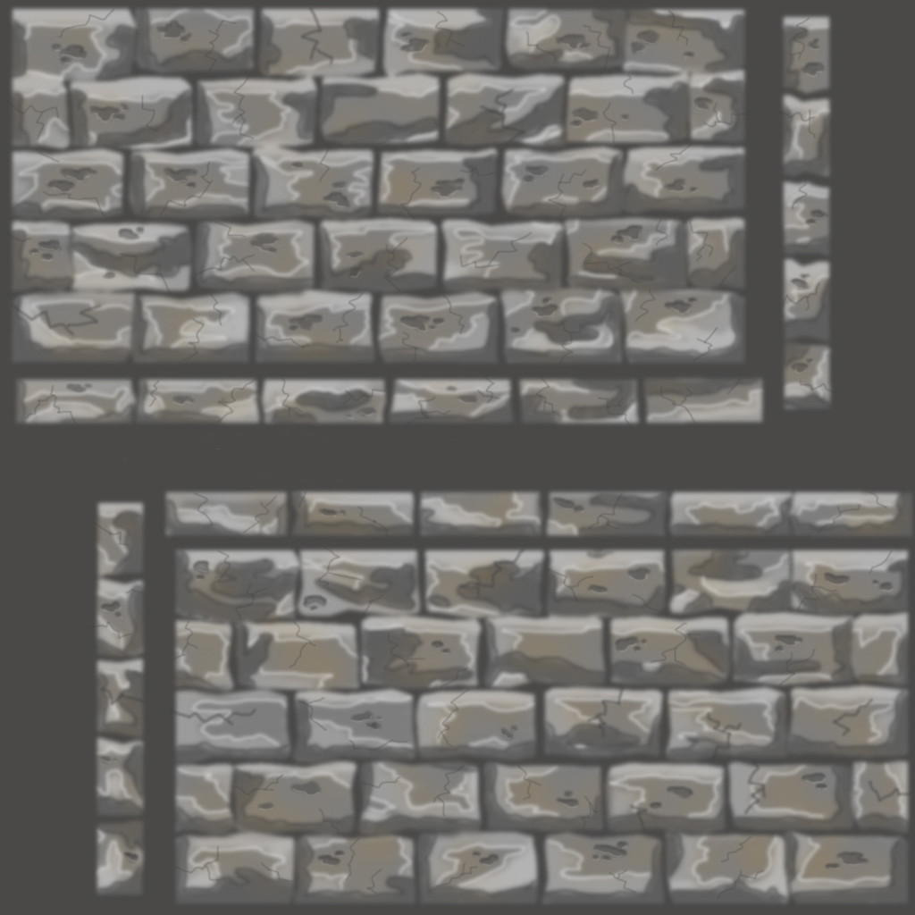 Hand Painted Rock Wall Textures