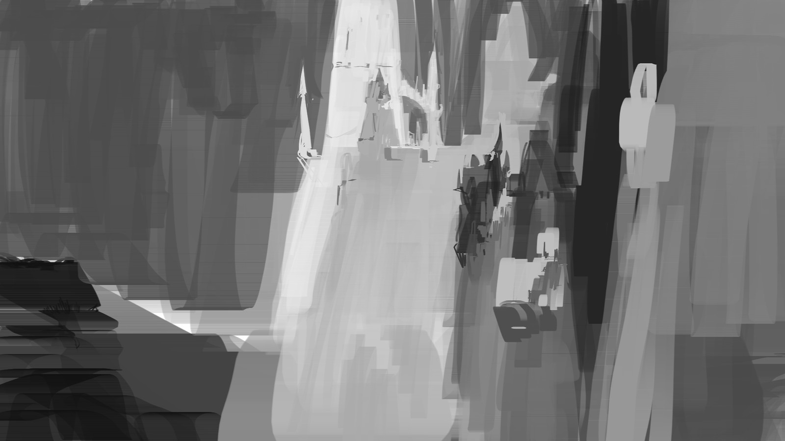 Sketch of the city based from triangular shapes, inspired from coral.