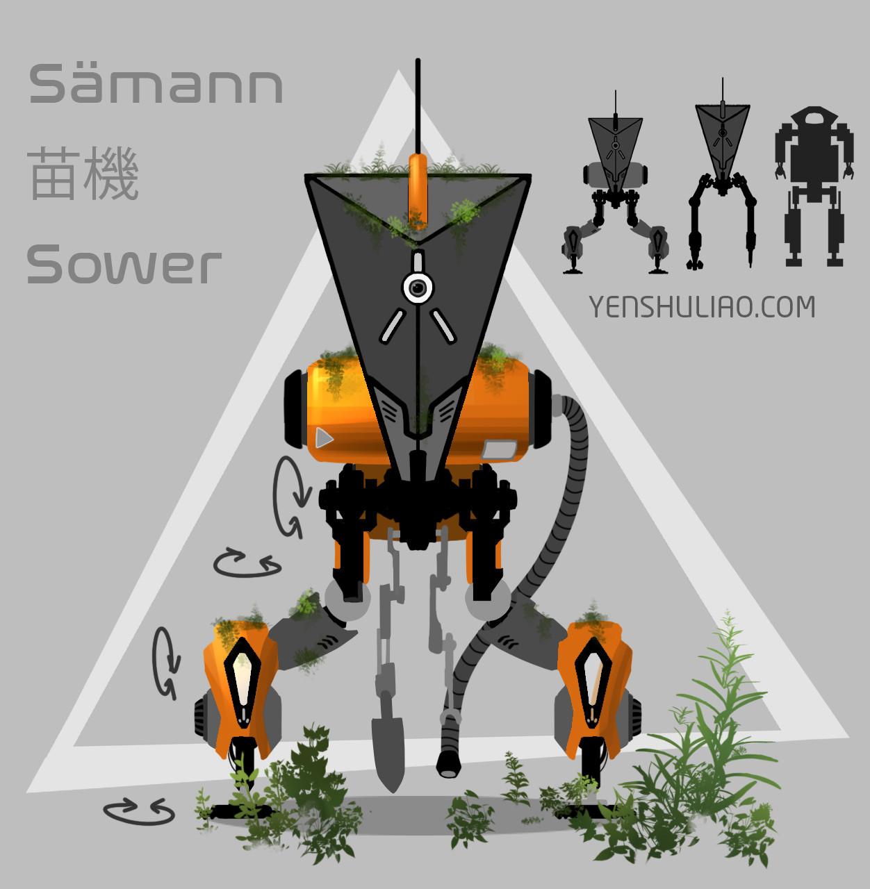 Yen shu liao mech robot concept art yenshuliao 02