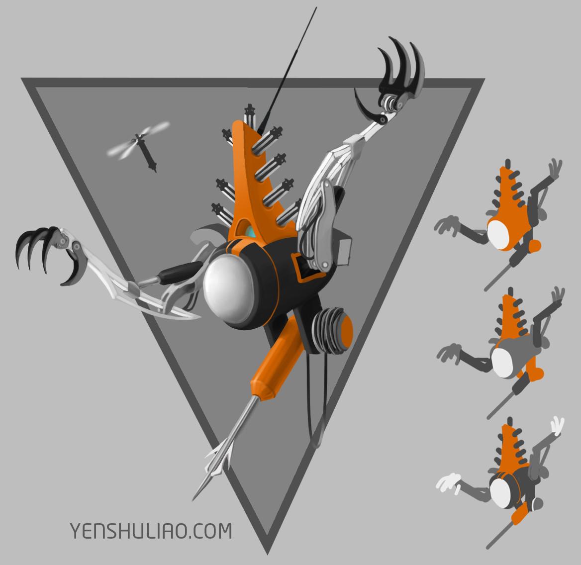 Yen shu liao mech robot concept art yenshuliao 04