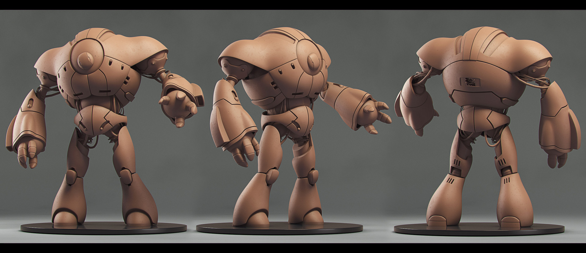 Victor hugo sousa robot render turntable