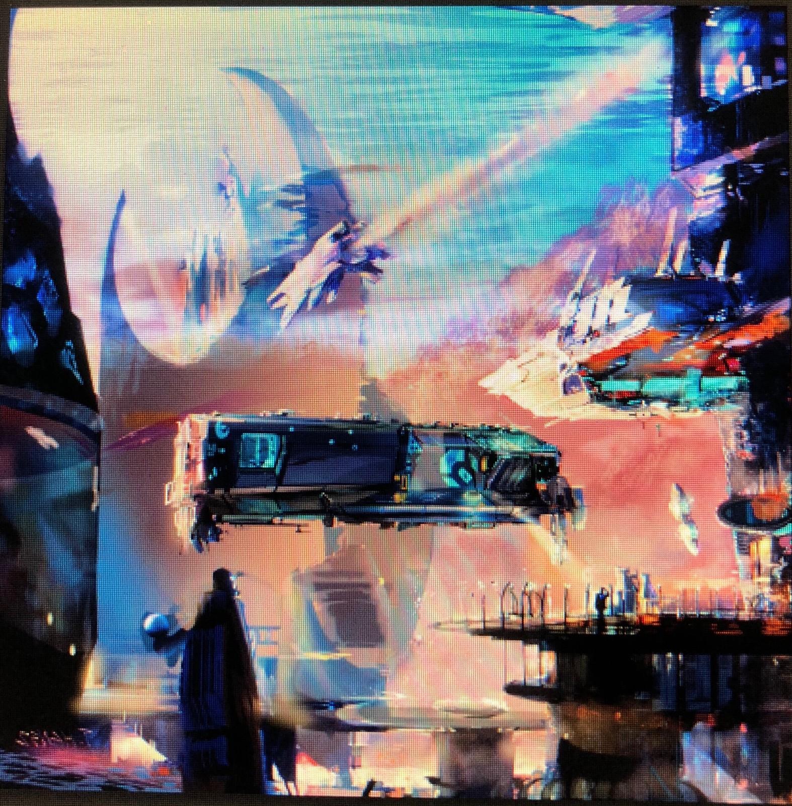 Hot environmental painting.