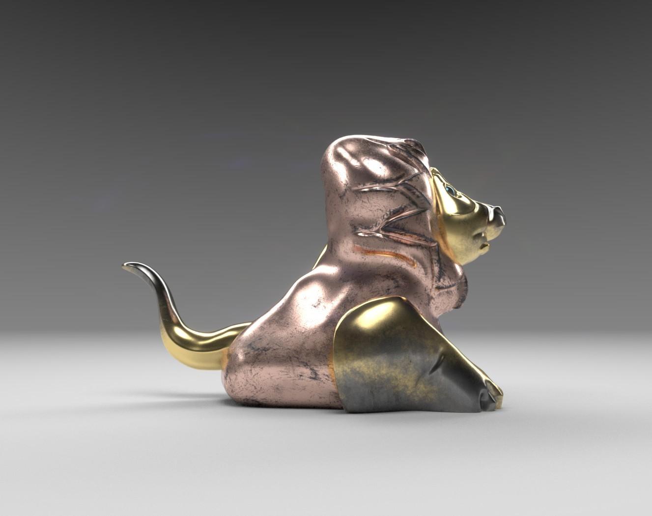 Lion statuette