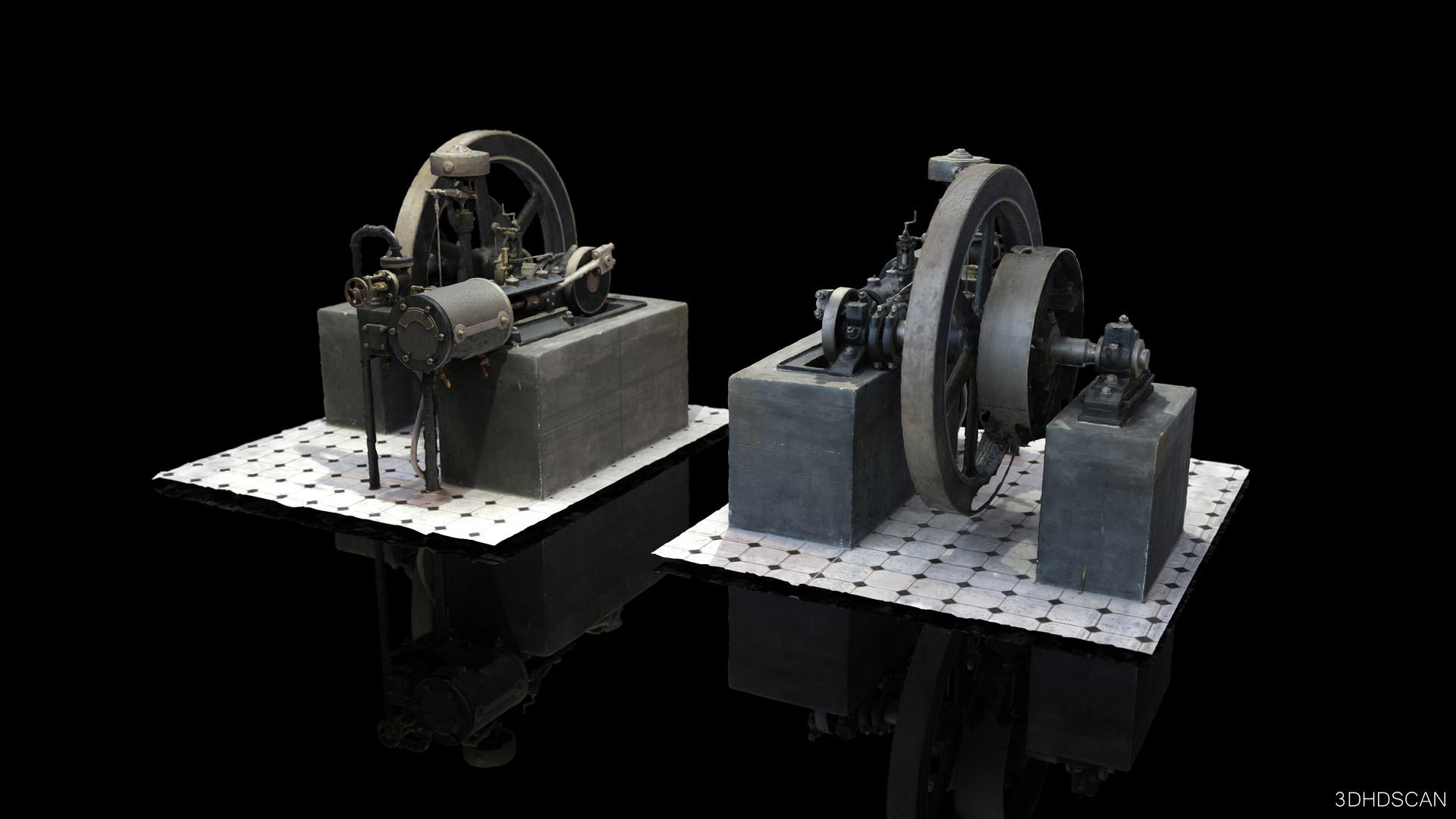 Steam engine - slide distribution system Rider