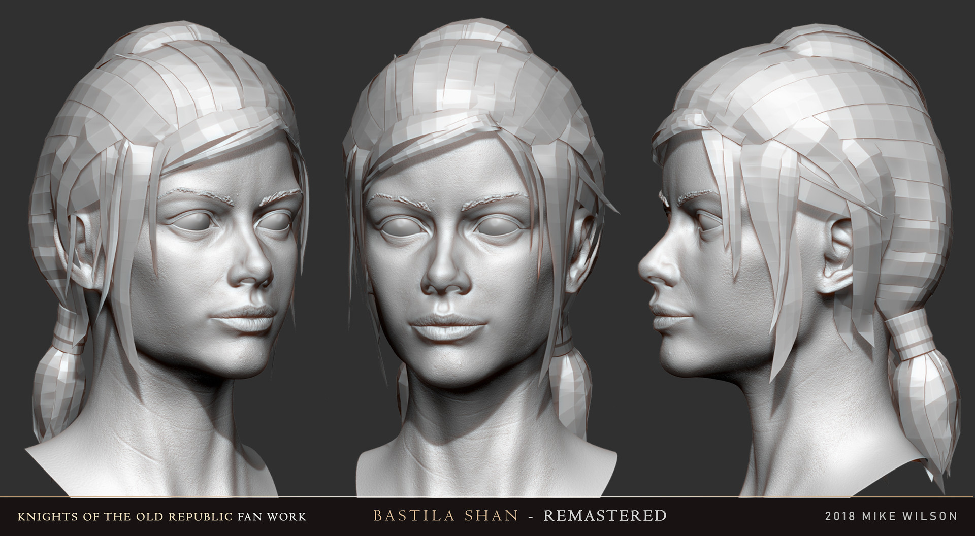 ArtStation - Fan Remaster: Bastila Shan, Mike Wilson