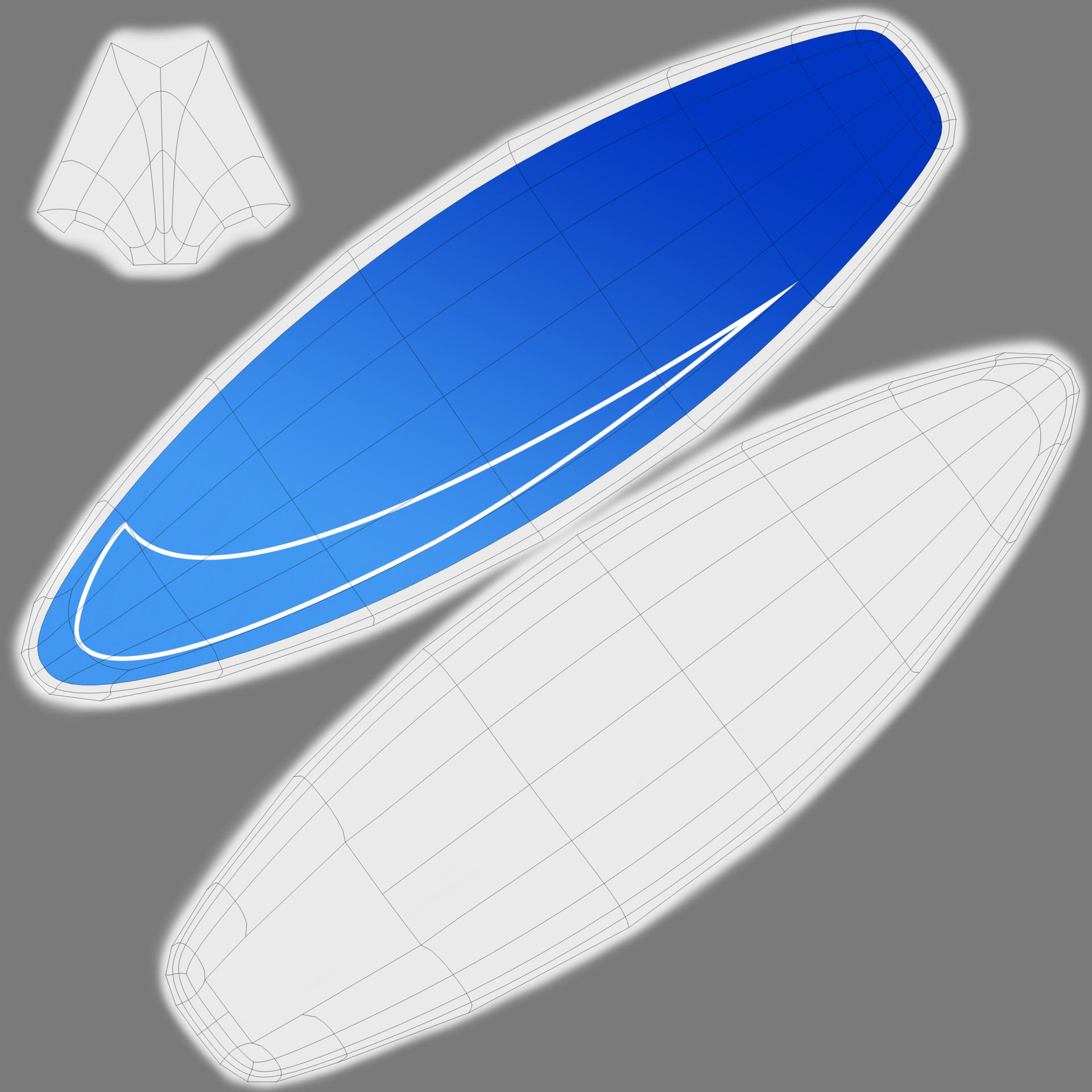 Surfboard UVs