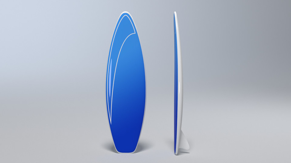 Prop - Surfboard rendered in color