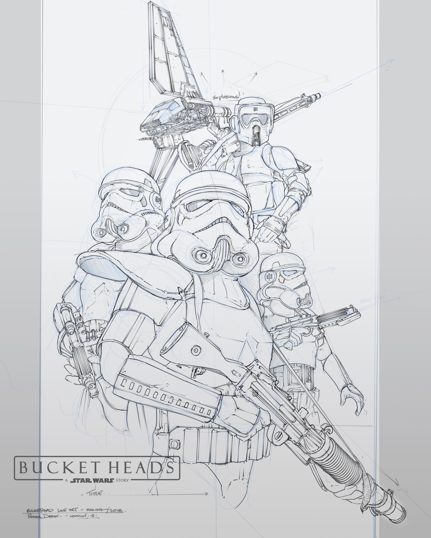 Line Art - Bucketheads Poster
