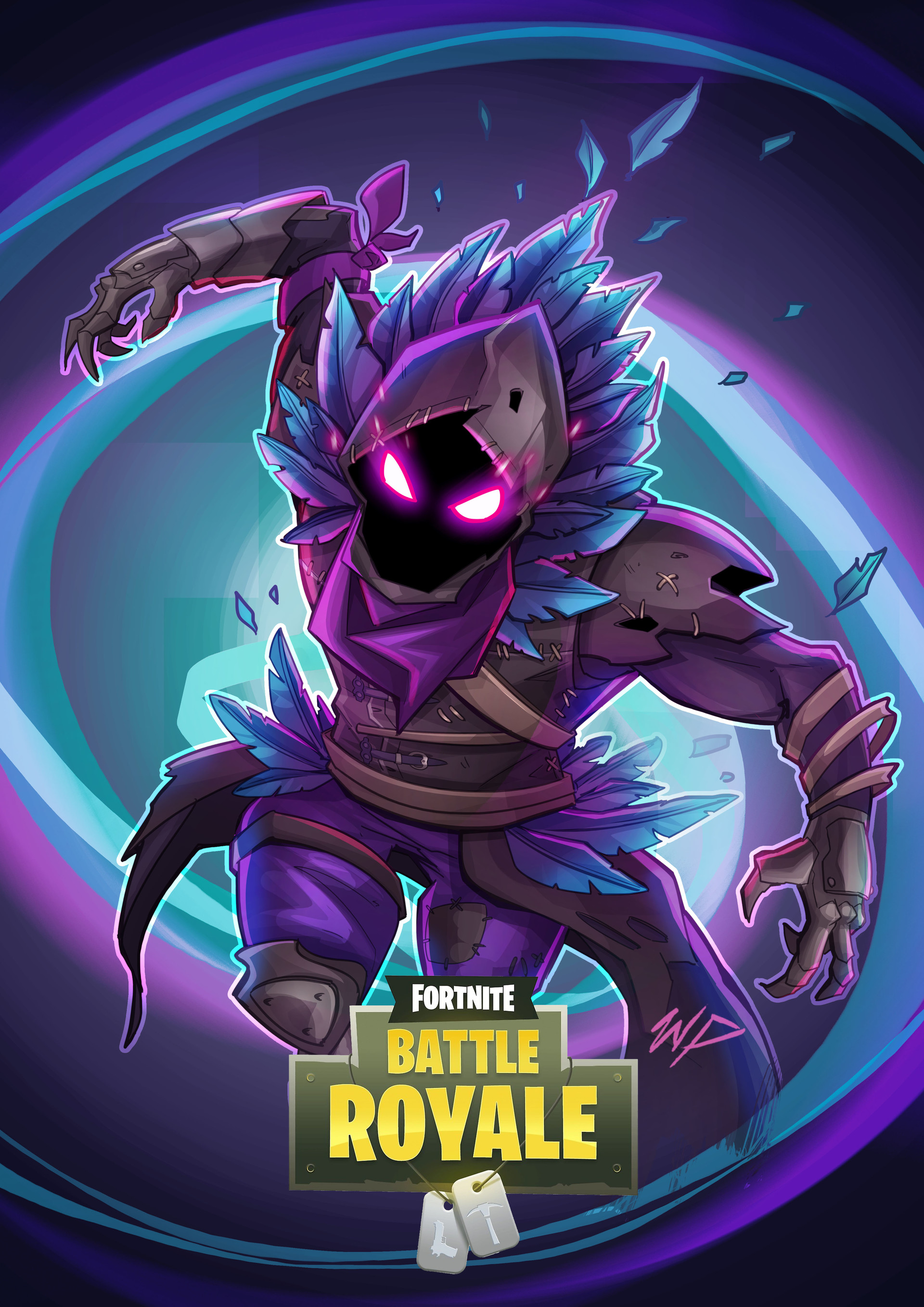 Artstation Fortnite Raven William Puekker