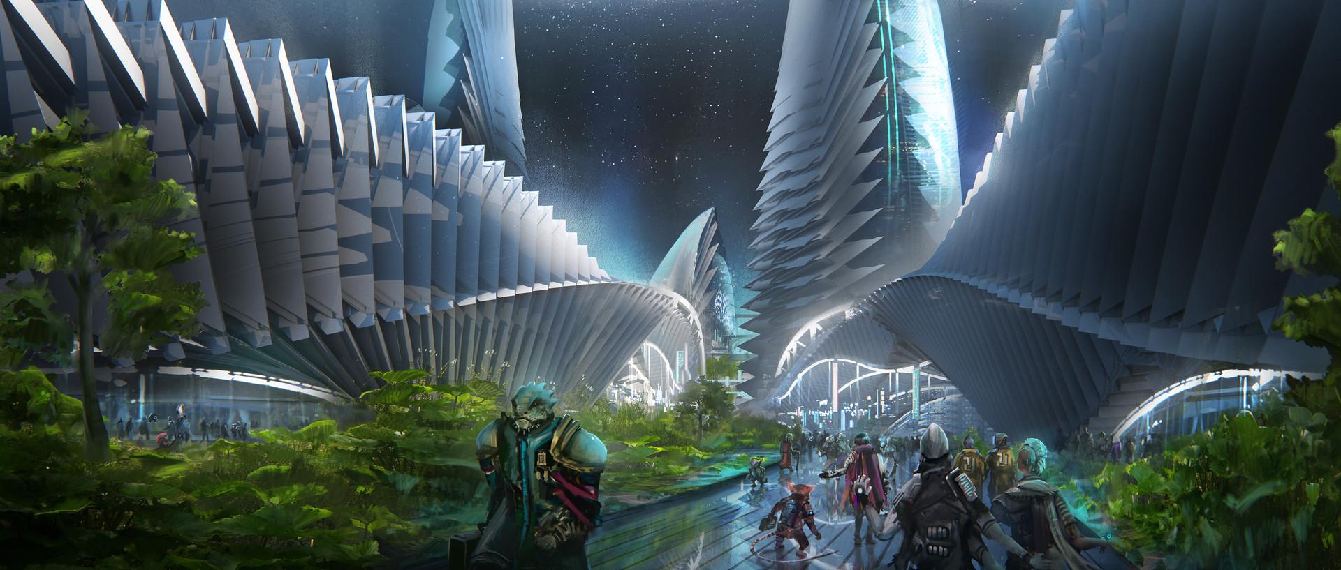 ArtStation - Starfinder Paizo publishing - Absalom Station