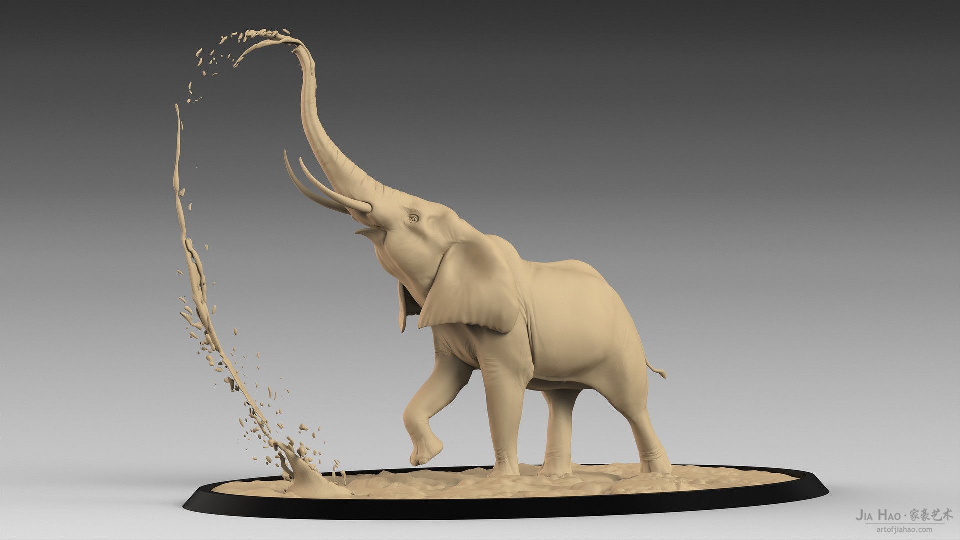 Jia hao africanelephant digitalsculpturea 01