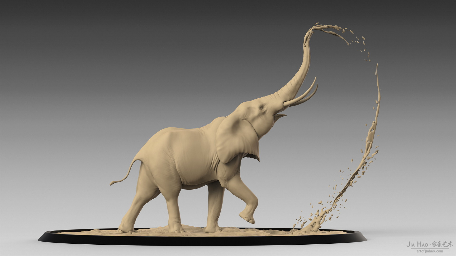 Jia hao africanelephant digitalsculpturea 04