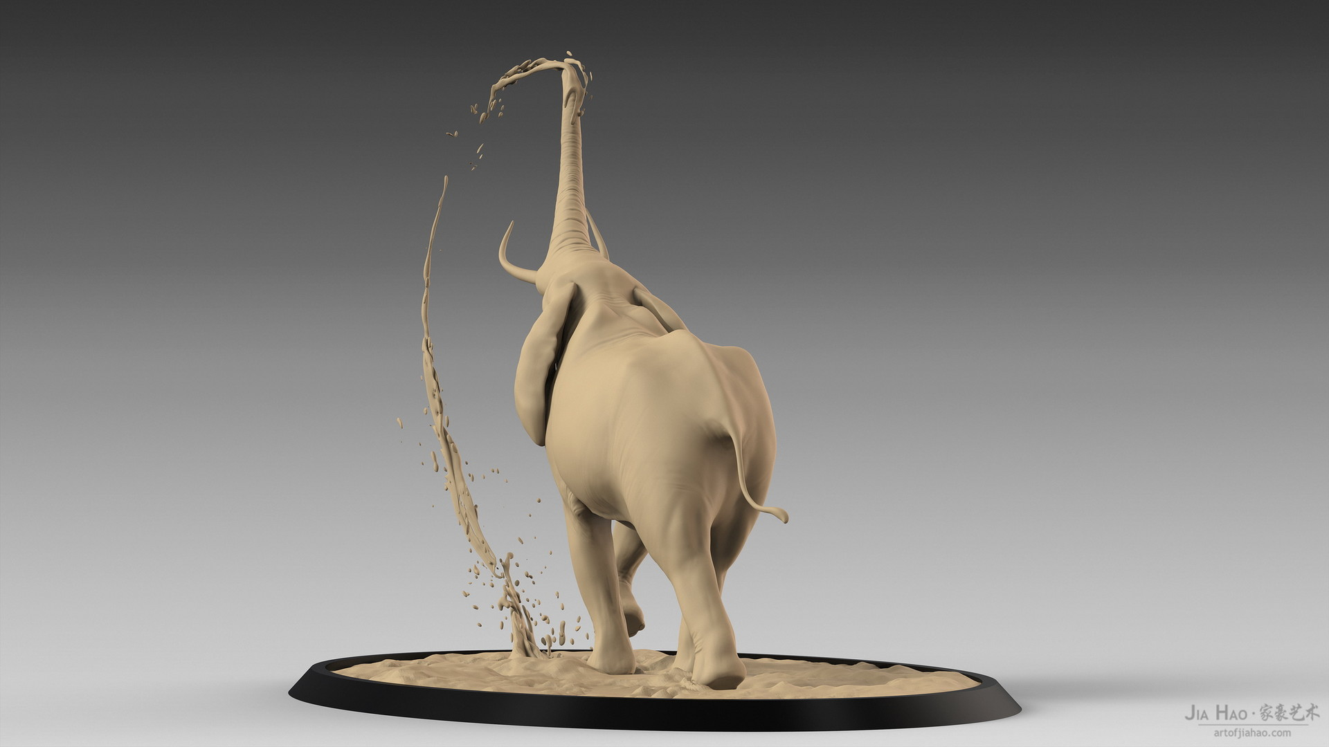 Jia hao africanelephant digitalsculpturea 06