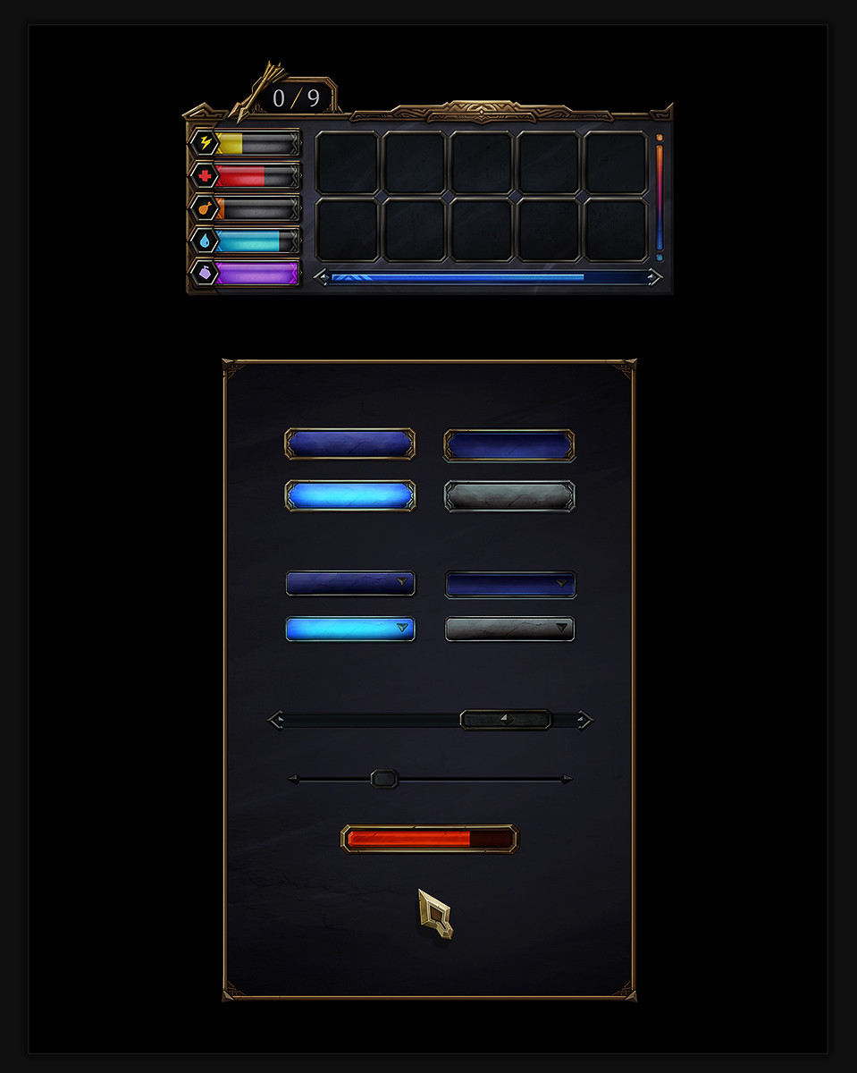 Inventory UI and various UI assets