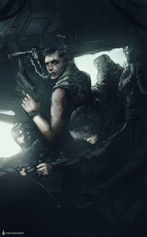 Maik beiersdorf humans faction poster sketch