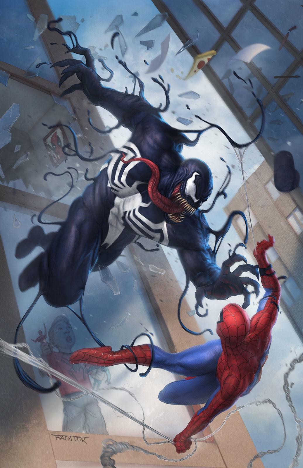 Rafael teruel rafater venom vs spiderman rafa teruel marvel