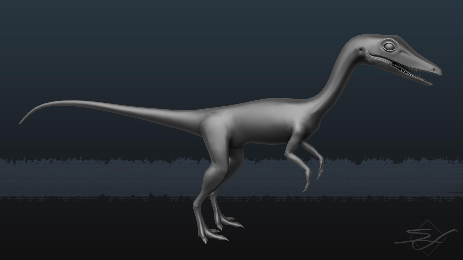 Sebastian irmer compsognathus render 02