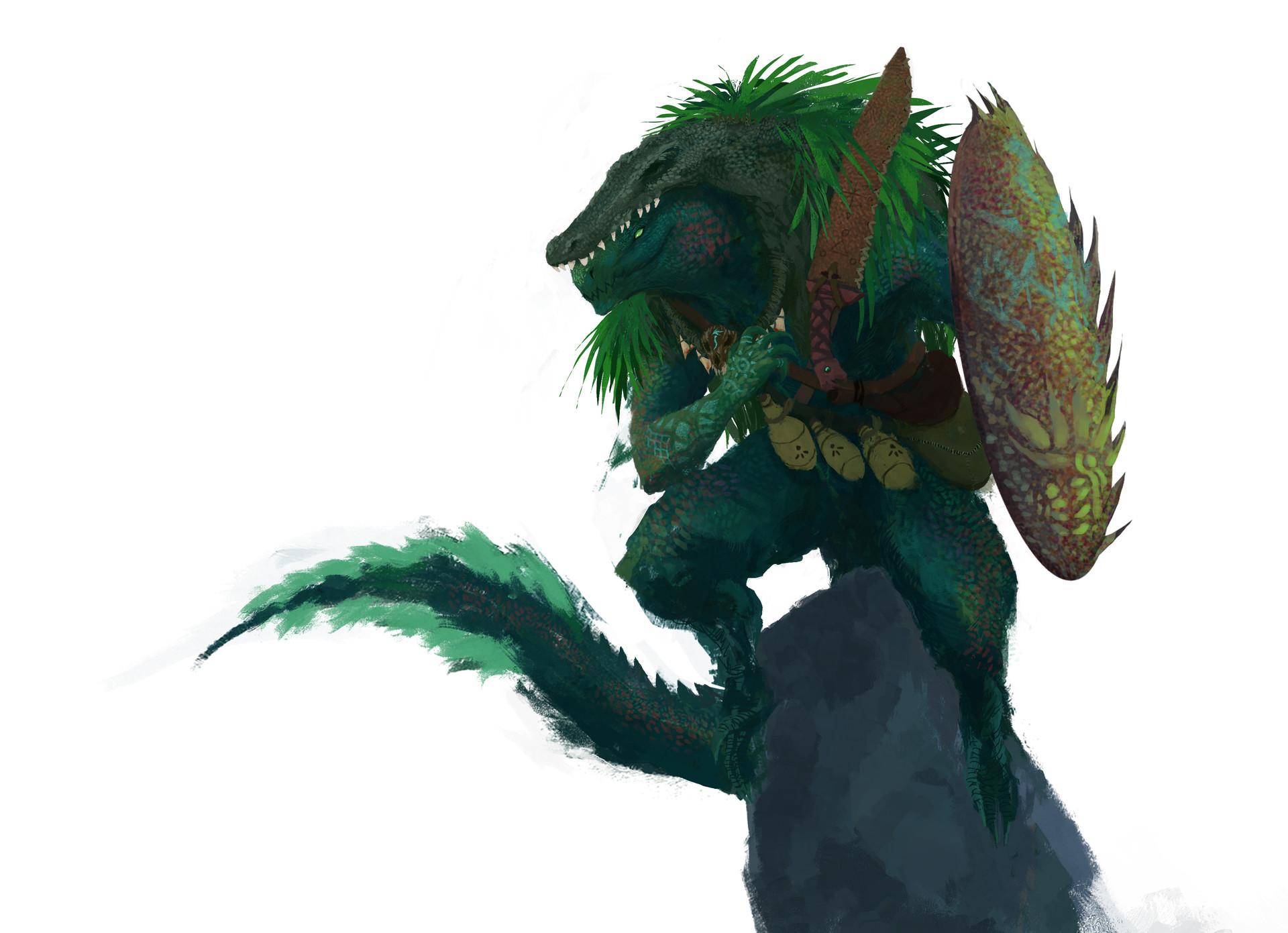 ArtStation - Lizardfolk Druid, Zack Castro