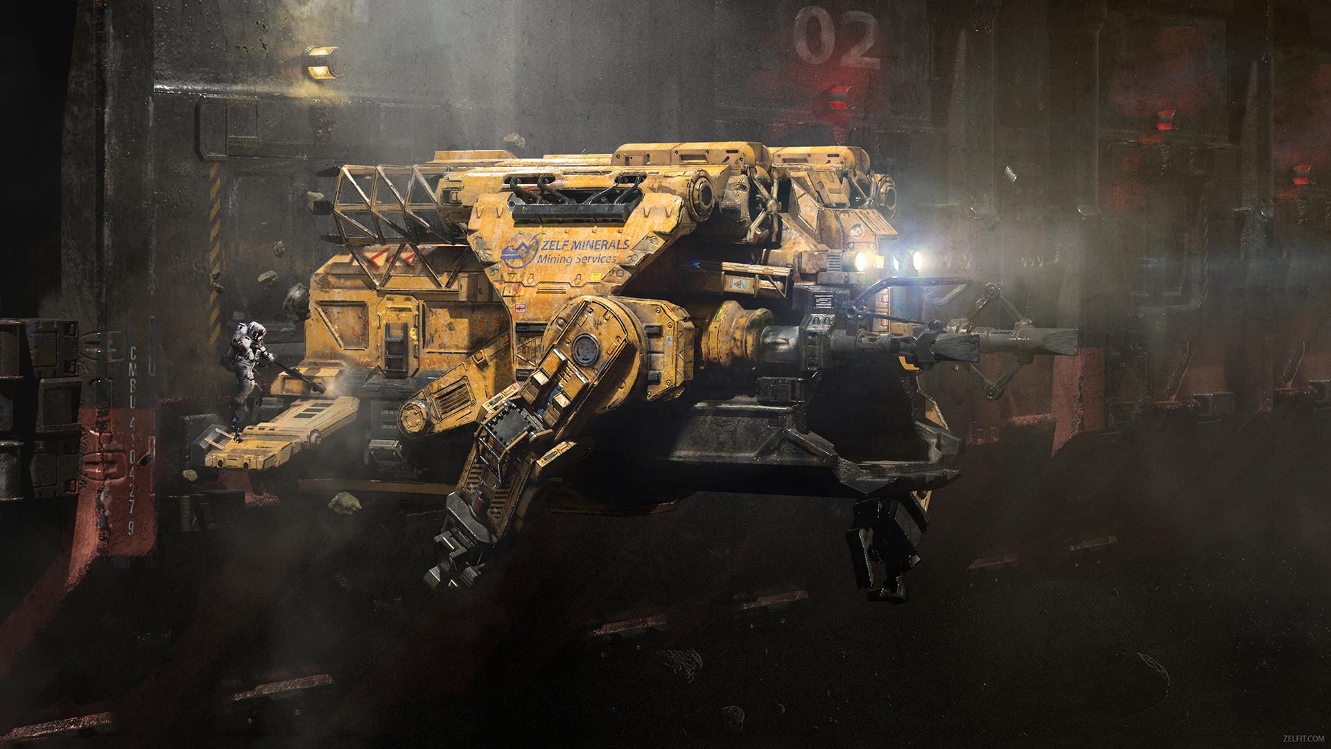 Mining Ship Concept Art