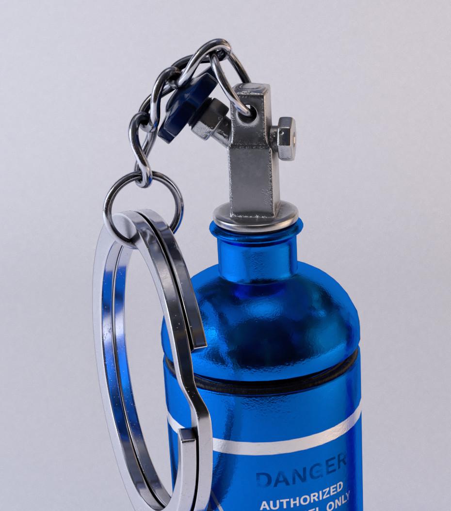 ArtStation - Bottle Nitrous - Key Ring, Abderazak Achtioui