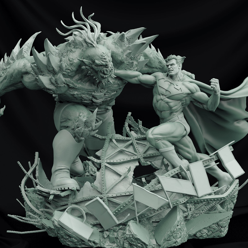 Superman vs. Doomsday - Battle Diorama 1/6 - Iron Studios