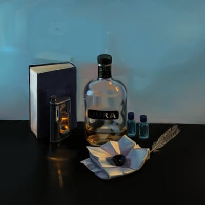 Tom van de merbel still life with scotch whisky by merbel d343976