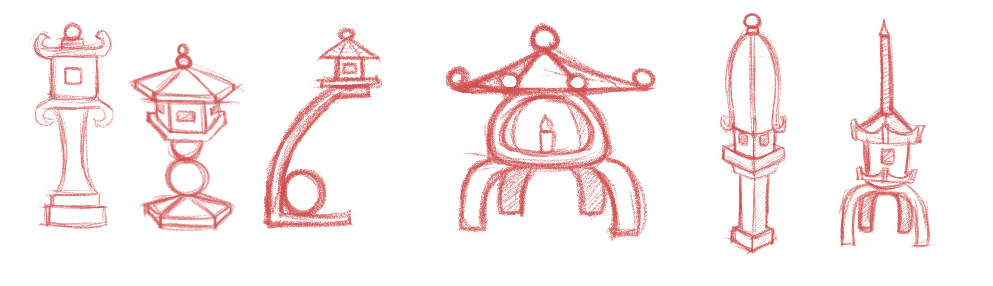 Concepts for stone lanterns