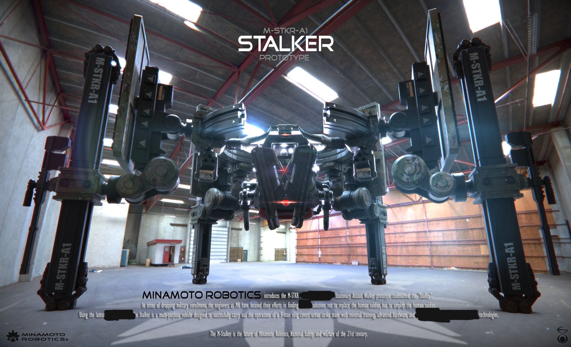 Using unconventional (and eventually realized by the UN as illegal) technology, the M-STKR-AI Assault Walker never made it passed prototype stage (cont...)
