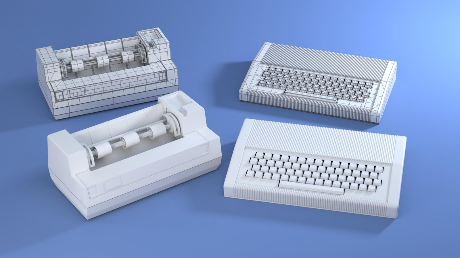 Computer and Printer (1980's)