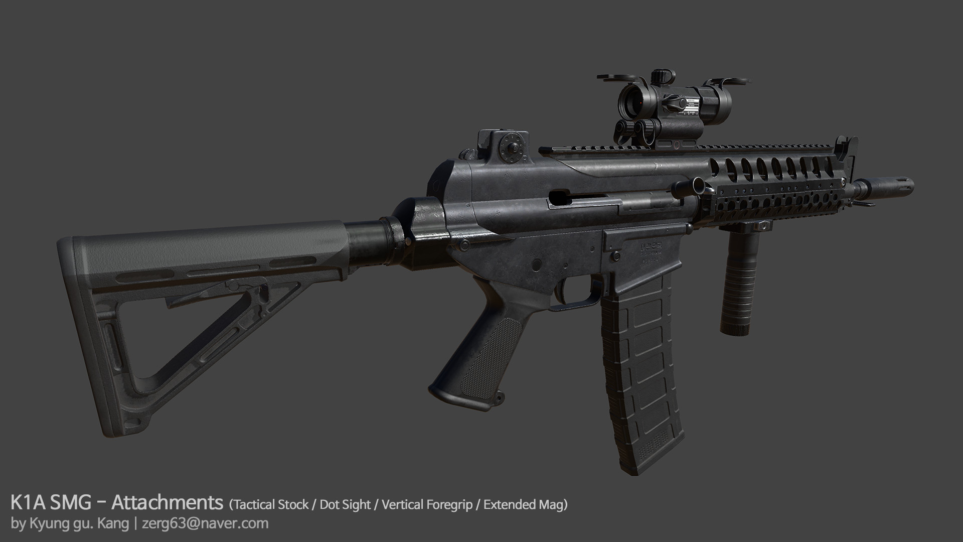 ArtStation - K1A Submachinegun - Rendered in Unity, Kang ...
