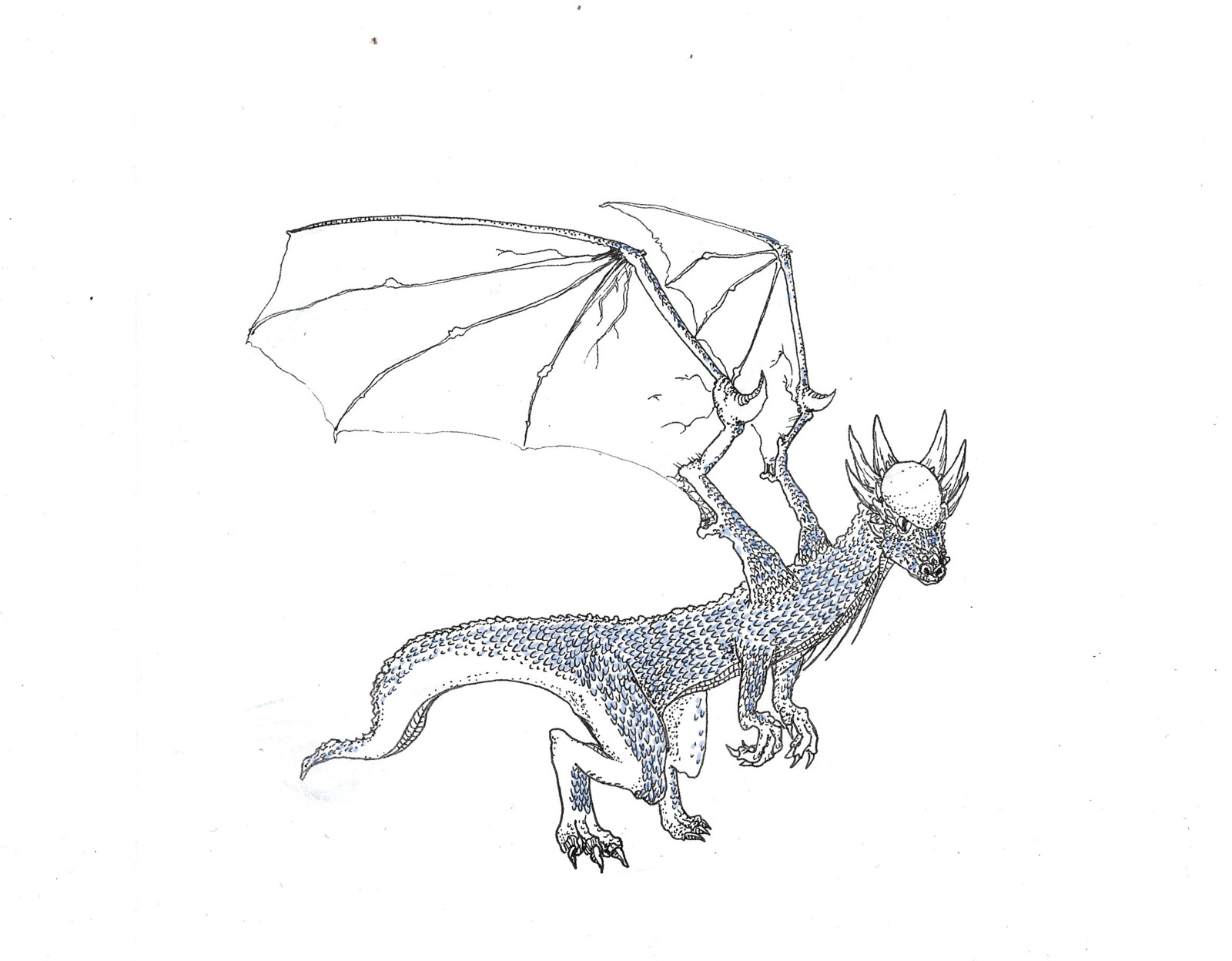 an imaginary winged stygimoloch