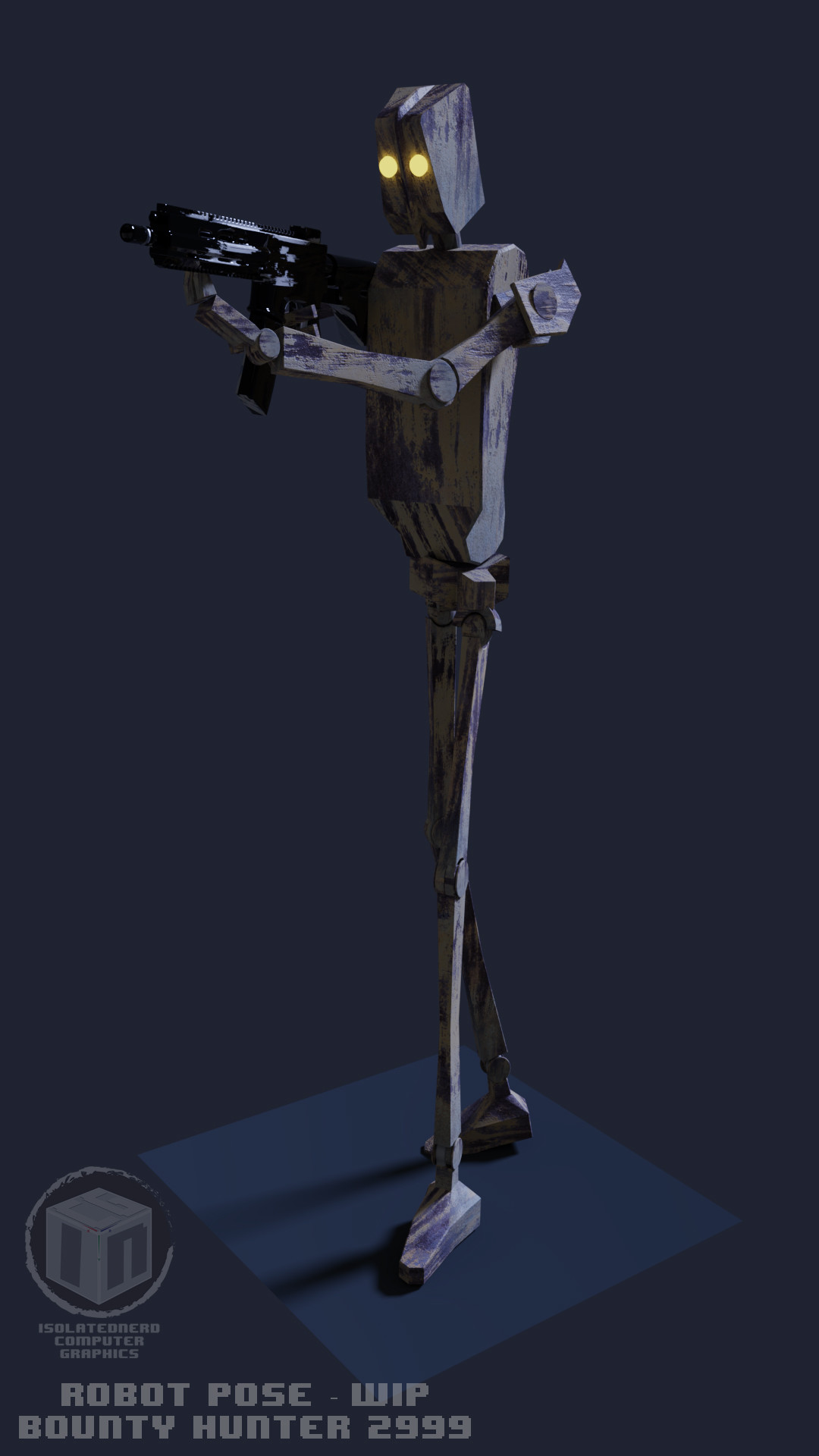 Posing robot - At this point i wont made  a greater 3d model for this robots.
