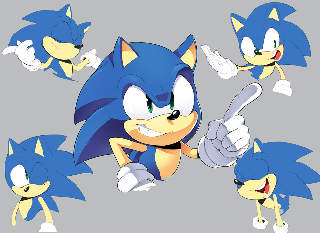 Artstation Sonic Expressions Sheet Bracardi Curry