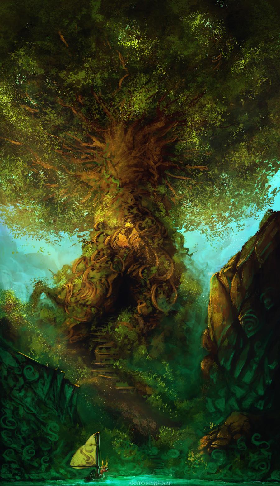Anato finnstark zelda the wind waker the tree of wisdom by anatofinnstark dc8s8xd