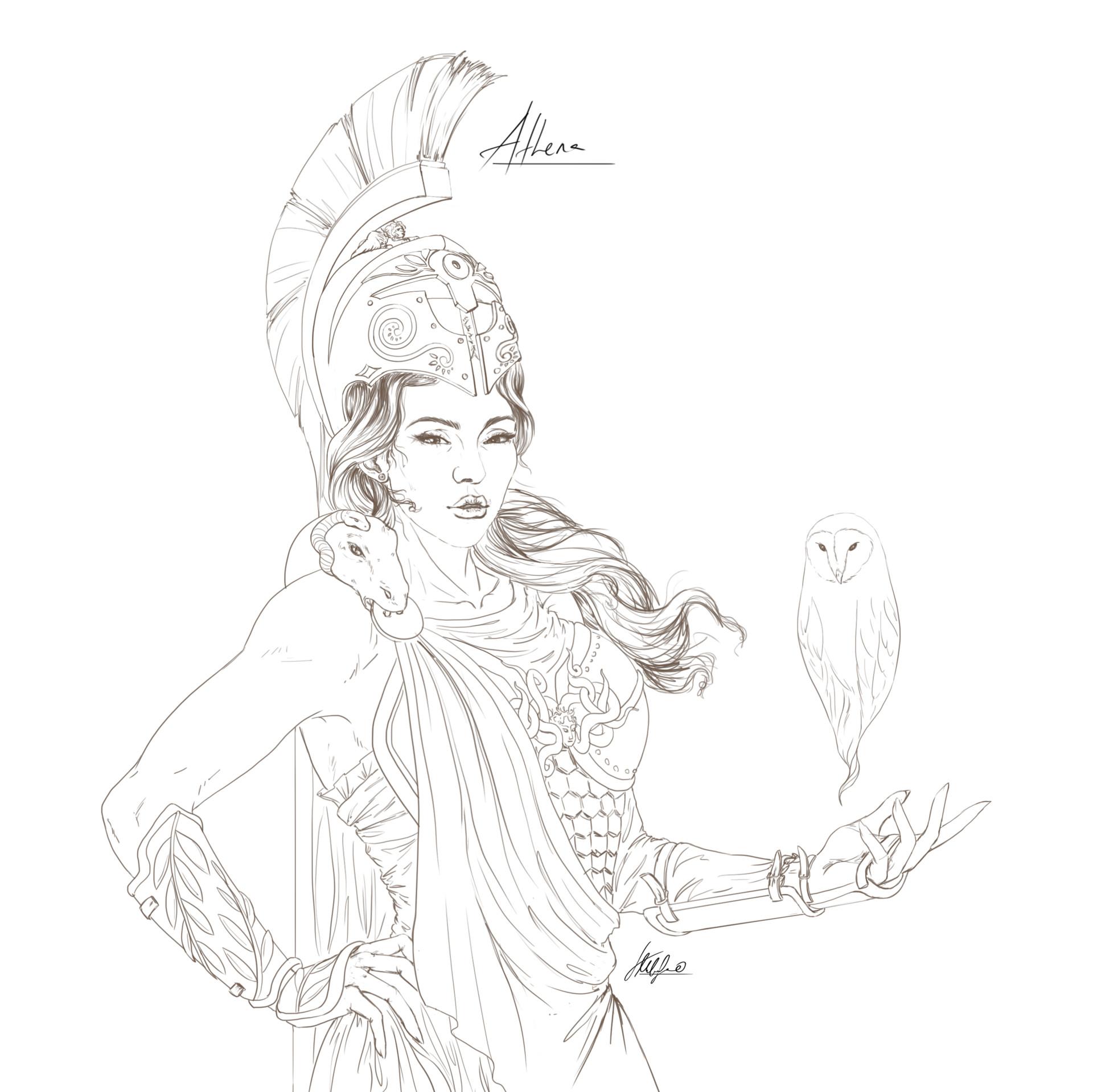 Tanja G Milosavljevic Athena Goddess Of Wisdom