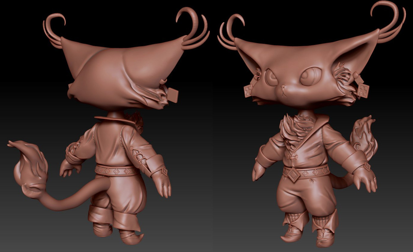 Musketeer Cat Highpoly