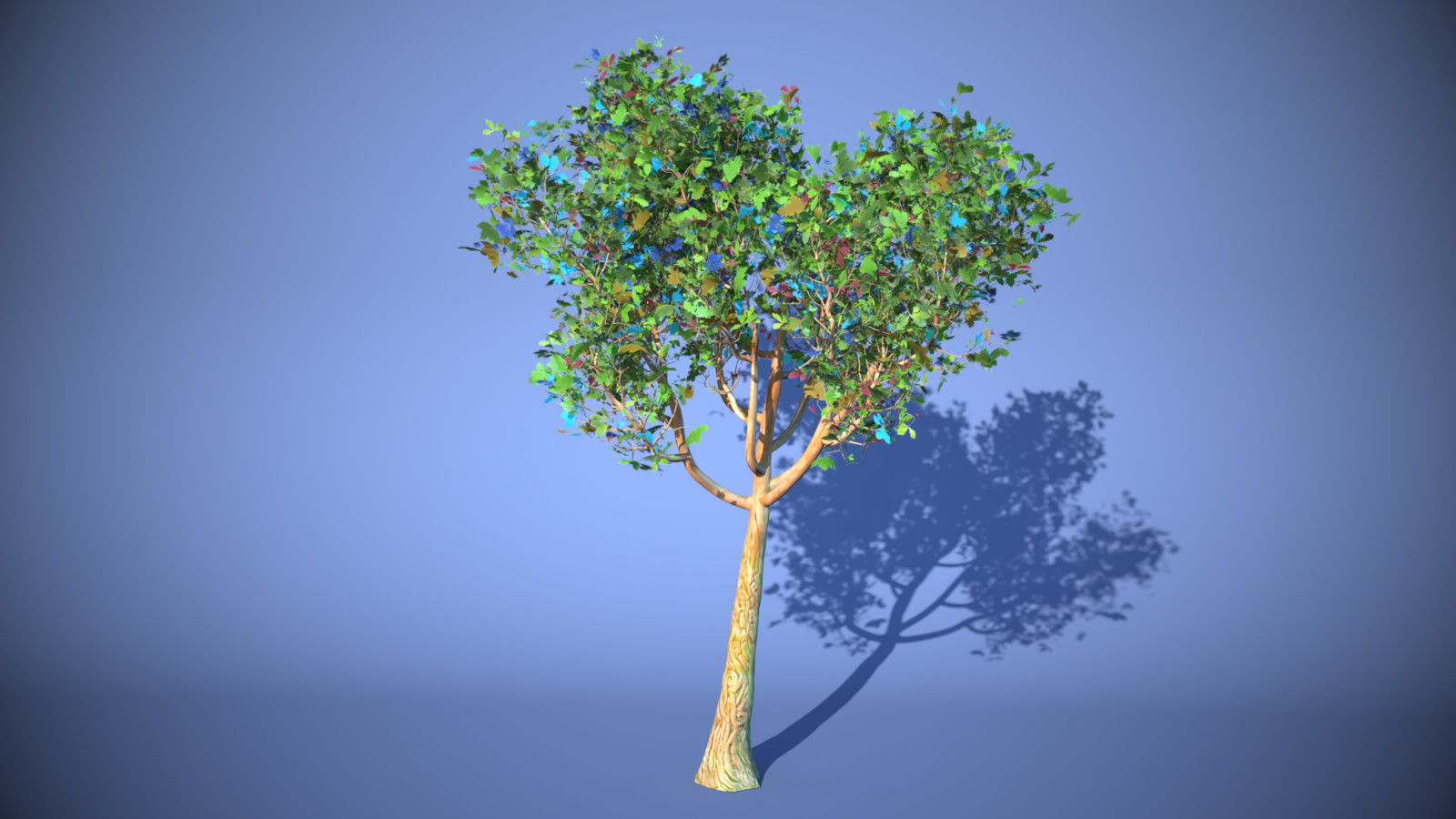 Fantasy Cartoon Tree 3D model for CGTrader