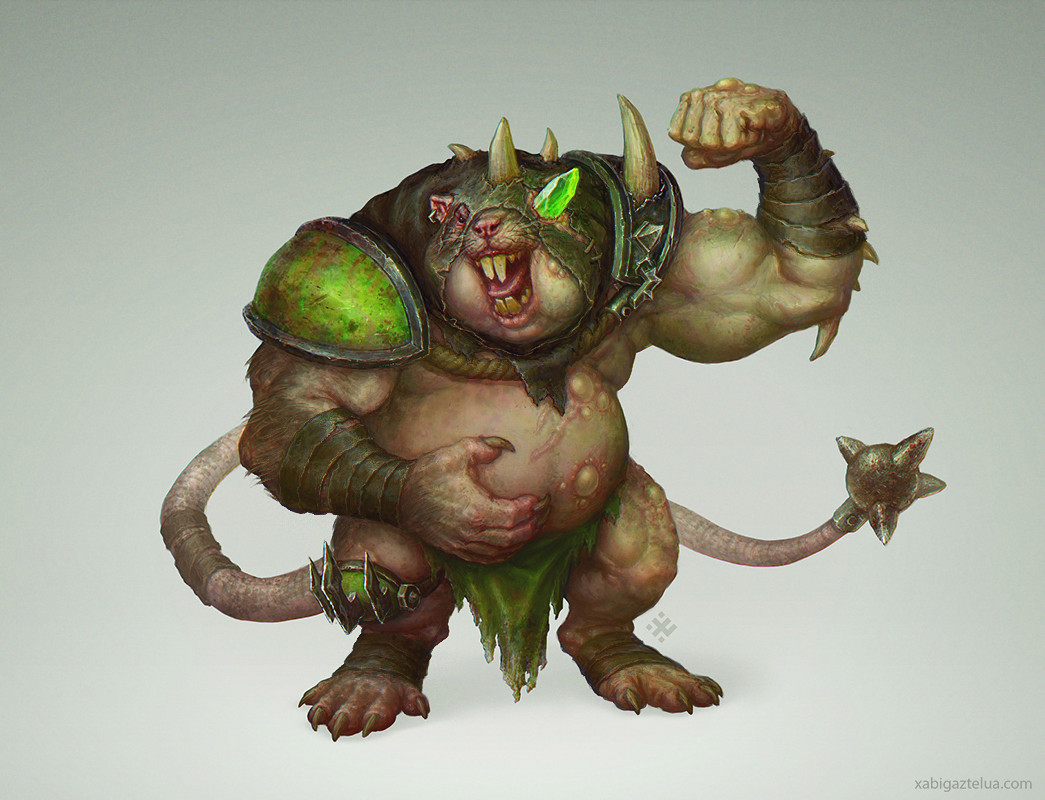[Blood Bowl] Fat Skaven - Miniature concept