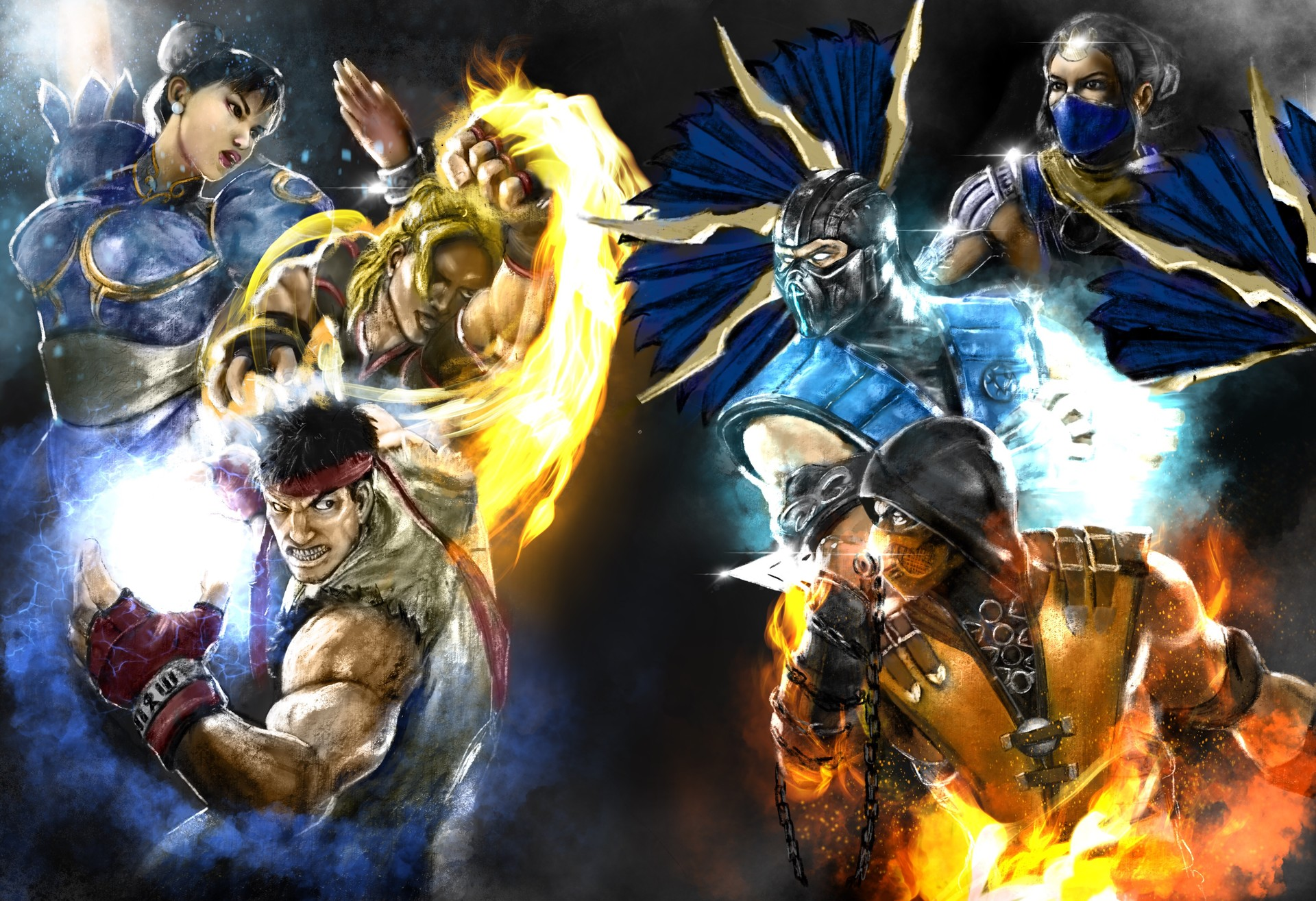 Artstation Street Fighter Vs Mortal Kombat Flavio Luccisano
