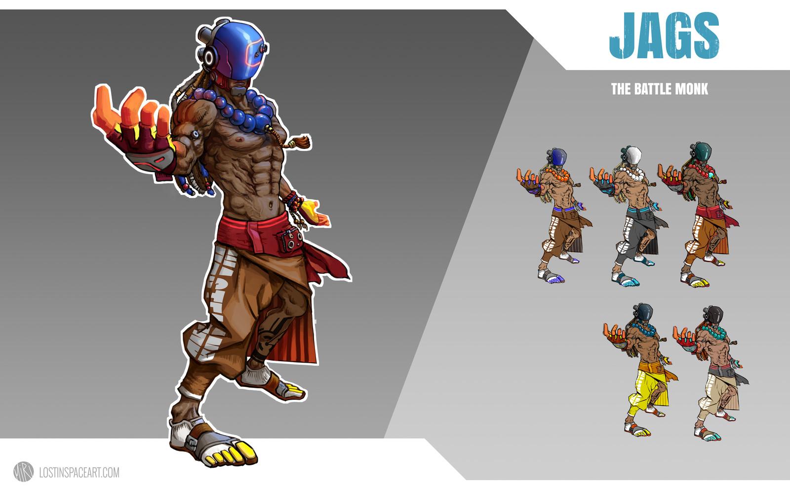 Character Design: The Battle Monk