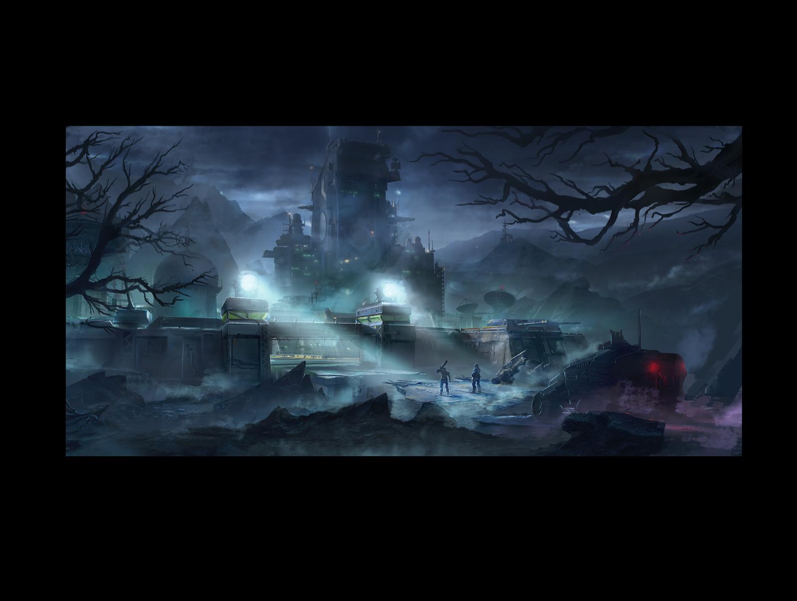 Phoenix Point ,Concept art (game demo level)