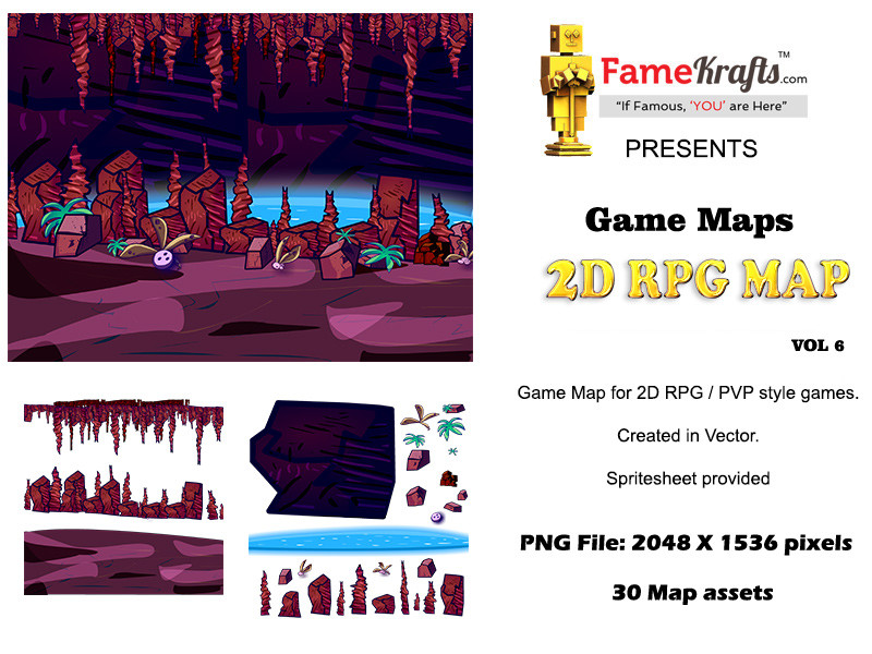 ArtStation - 2D RPG MAP : Underground Cavern, sunny kapoor