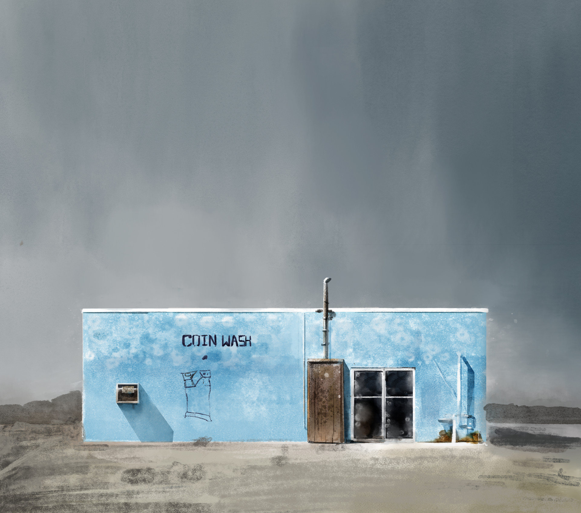 Study Ed Freeman's photography by using Kyle T. Webster's watercolor brushes...