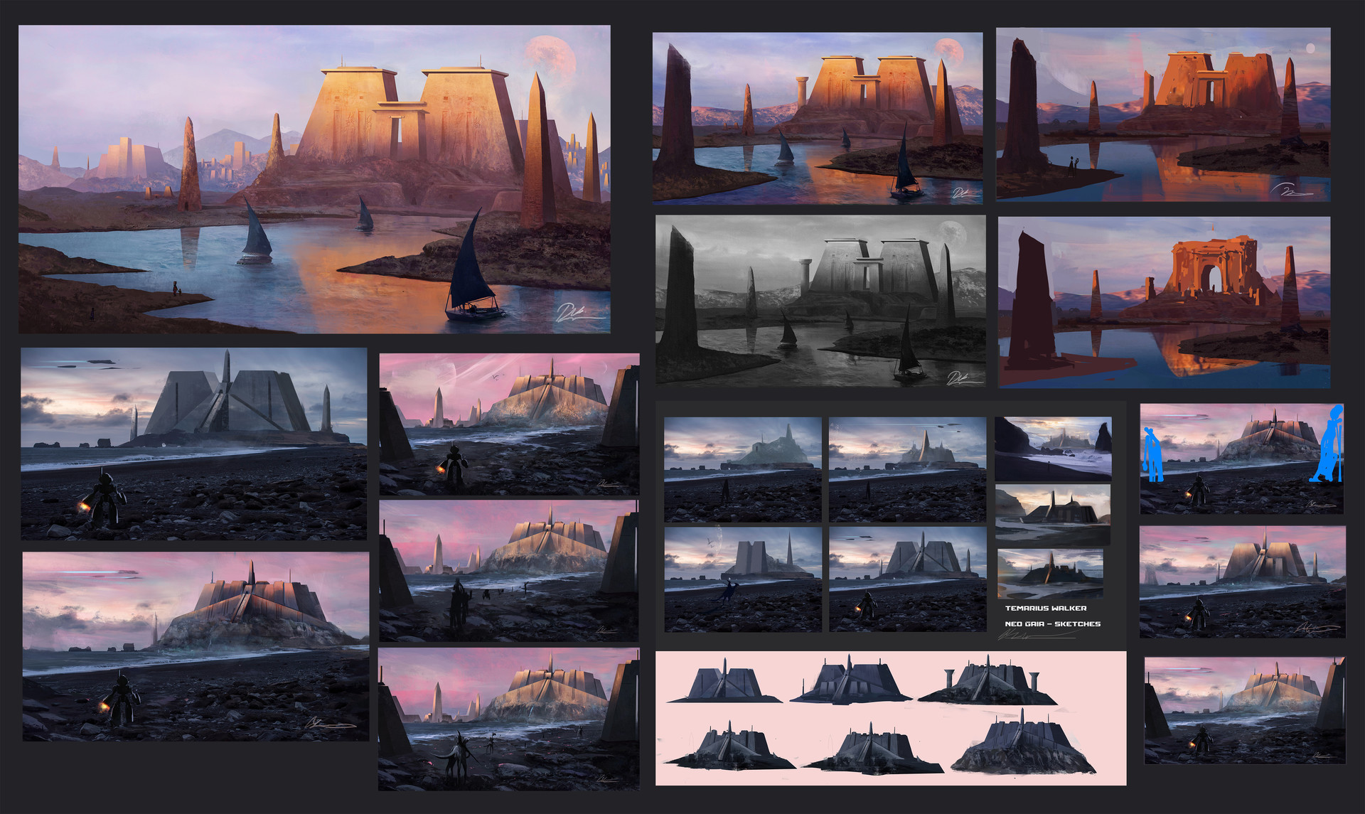 Rough Exploration sketches