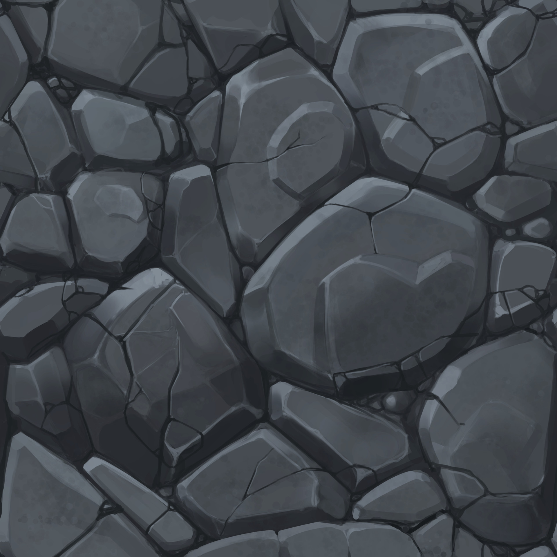 Hand-Painted/Tiling Stone Texture