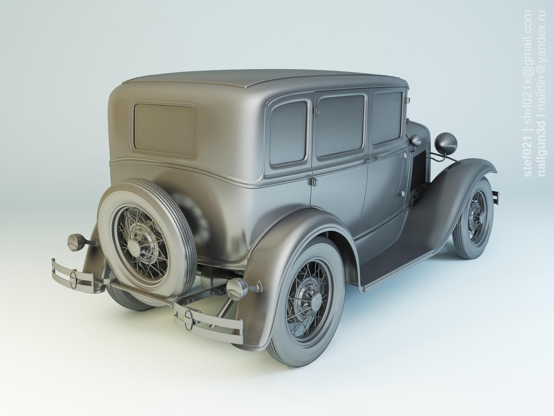 Nail khusnutdinov a0003 ford a fordor 1931 clay 1