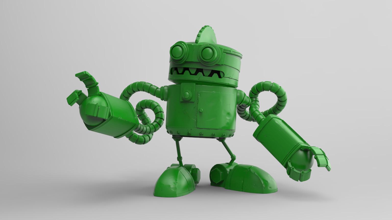 Roboto ZB18 WIP clay render test
